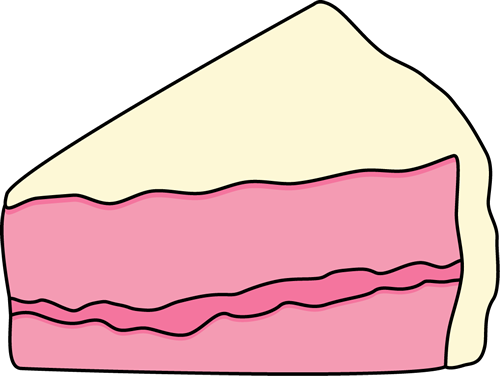 500x376 Cake Slice Clip Art Slice Of Pink Cake With White Frosting Clip