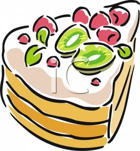 278x300 A Slice Of Cake Clip Art Image