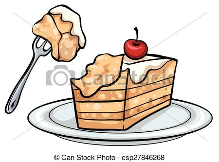 450x333 A Slice Of Cake. Slice Of Cake On A White Background Clip Art