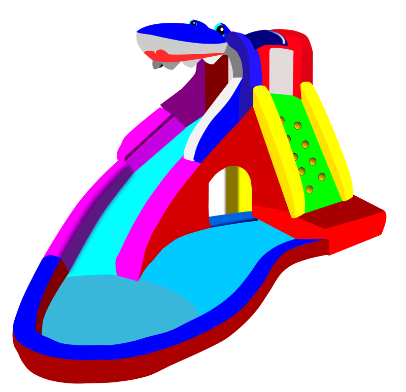 800x773 Free Clipart Bouncy Castle