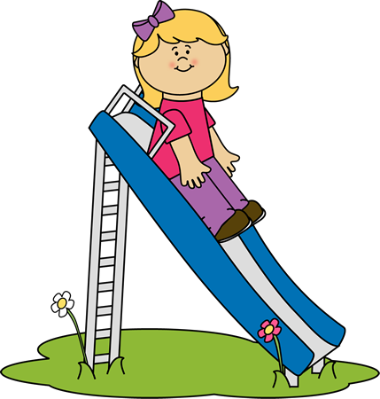 429x450 Girl On A Slide Clip Art Infantiles Clip