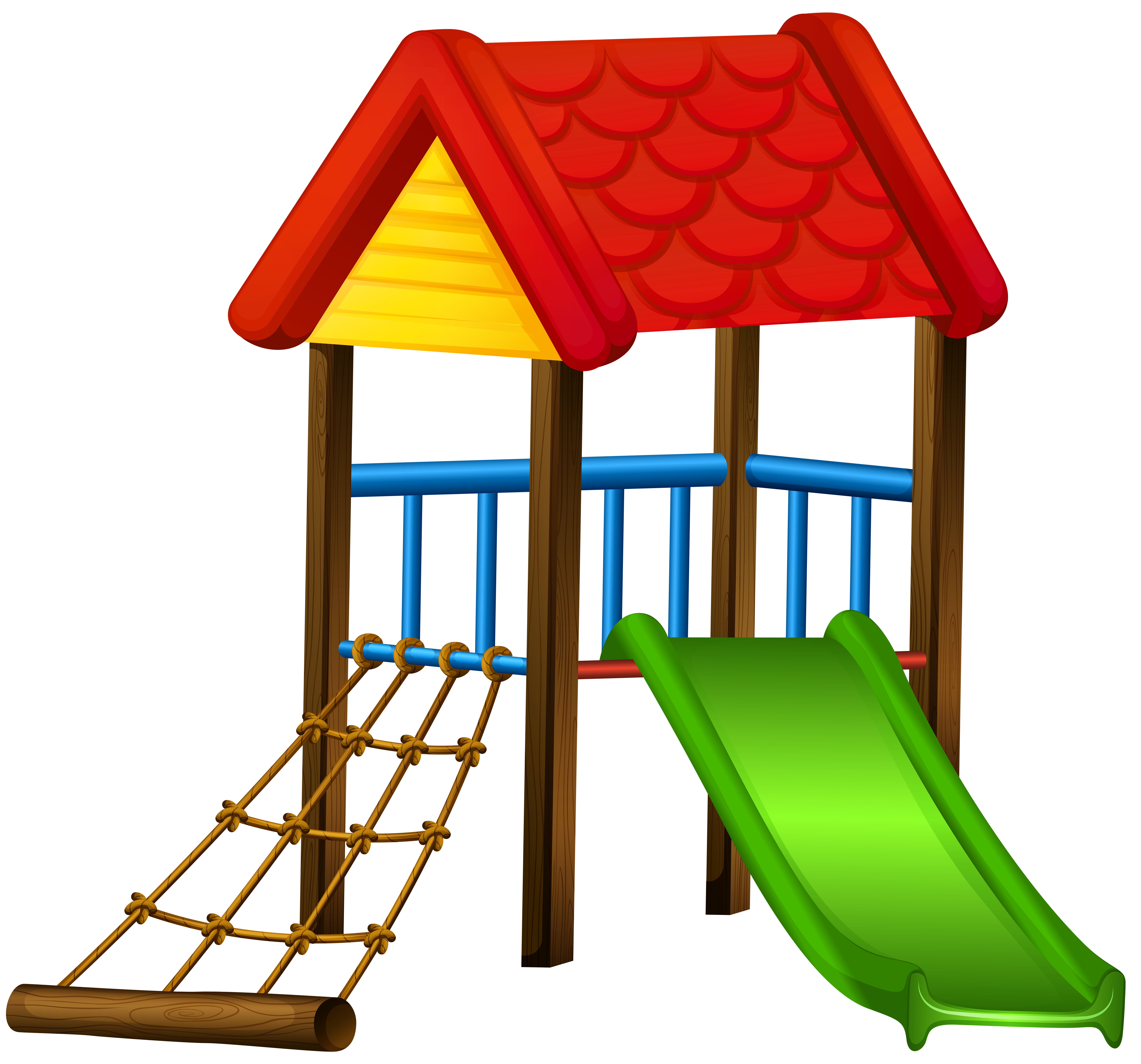 8000x7461 Slide With Roof Png Clip Art