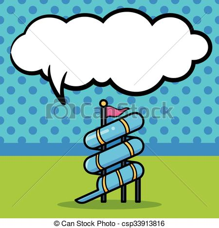450x470 Water Slide Doodle Vector Clip Art