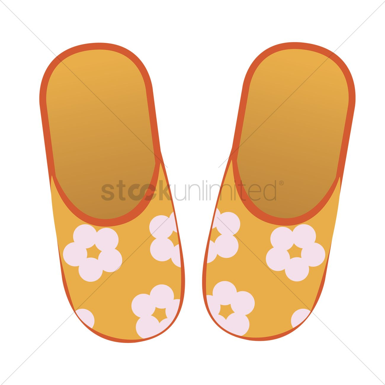 1300x1300 Free Bedroom Slippers Vector Image