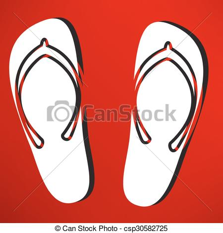 450x470 Beach Slippers Vector Illustration