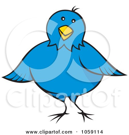 450x470 Royalty Free Vector Clip Art Illustration Of A Blue Bird Music
