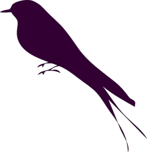 288x298 Small Bird On A Branch Clip Art