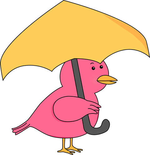 482x500 Bird Holding Umbrella Clip Art