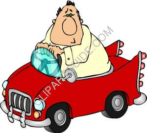 300x272 Clipart Of Man In A Red Car