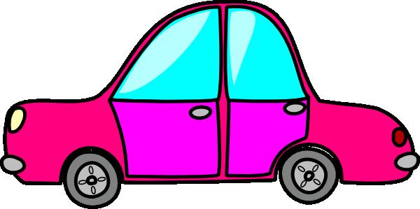 600x299 Pink Car Clip Art
