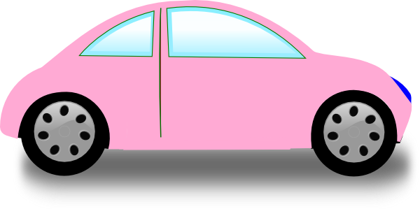 600x299 Soft Pink Car Clip Art