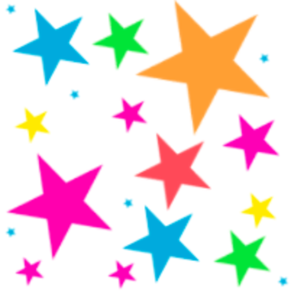 600x600 Free Colorful Stars Clipart Image