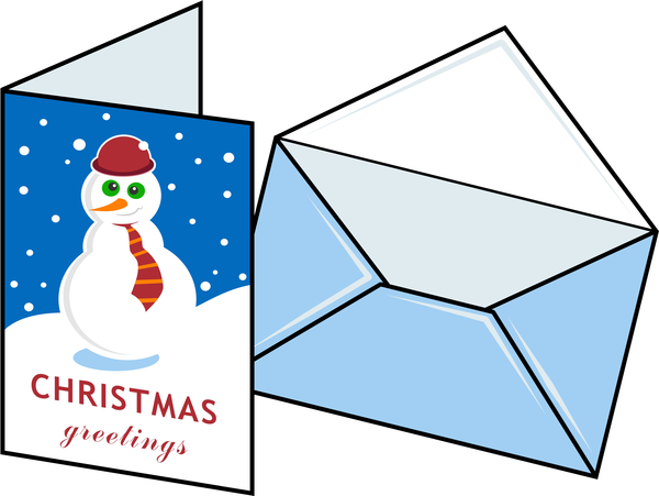 600x451 Christmas Card Clipart Png