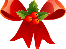 220x165 Christmas Clipart Small Christmas Bow With Holly Clip Art