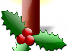 220x165 Christmas Clipart Small Christmas Candle Clip Art