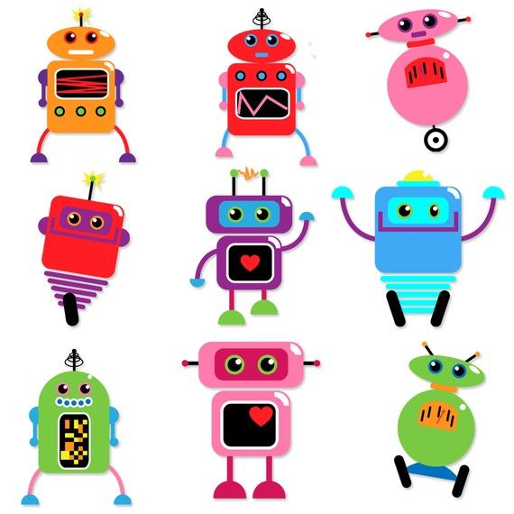 570x570 56 Best Clip Art (Robots) Images On Monsters, Robot