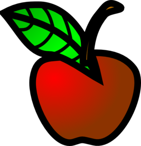 288x298 Small Red Apple Clip Art