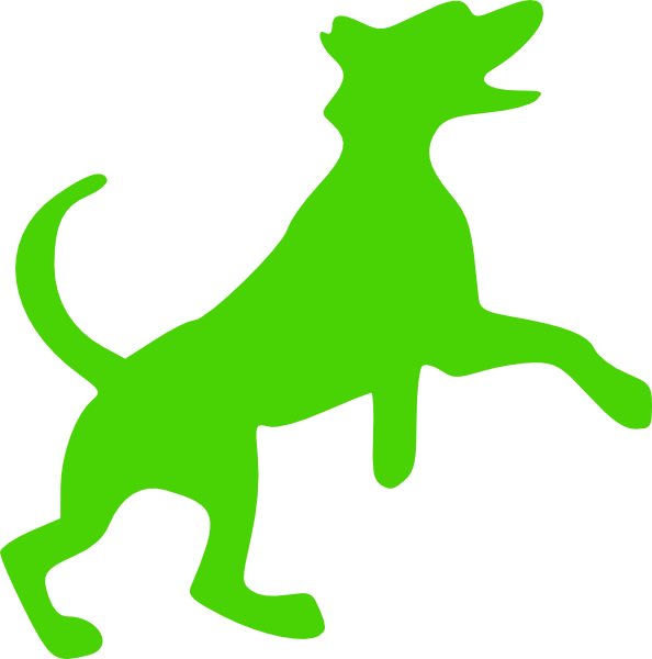594x600 Green Dog Clip Art