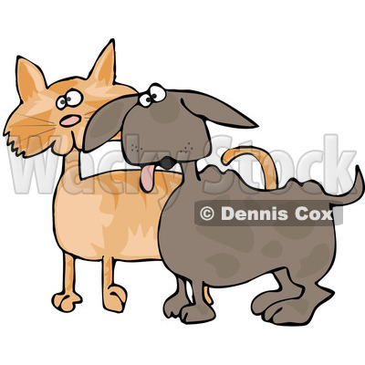 400x400 Royalty Free (Rf) Clipart Illustration Of A Small Dog Panting