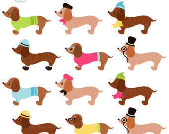 340x270 Sausage Dog Clipart Etsy