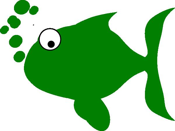600x450 Green Fish Clip Art