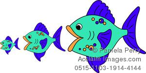 300x150 Little Fish Clipart