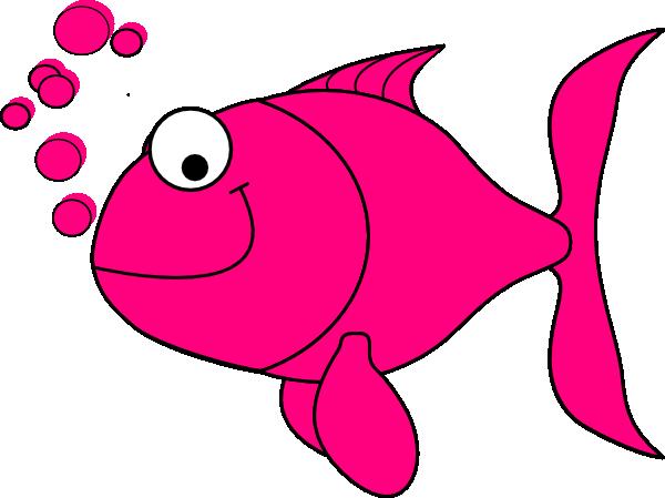 600x449 Pink Fish Clip Art