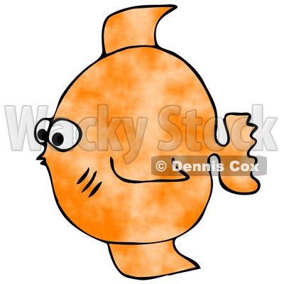 400x400 Small Orange Saltwater Fish Clipart Illustration Djart