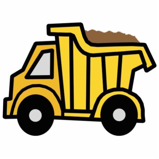 512x512 Cartoon Clip Art With A Construction Dump Truck Cutout Dump