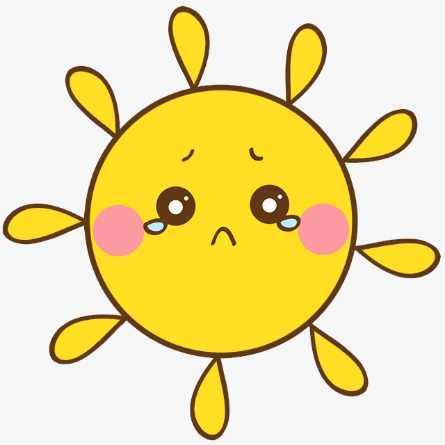 640x640 Crying Yellow Sun, Yellow, Sun, Cry Png Image And Clipart For Free