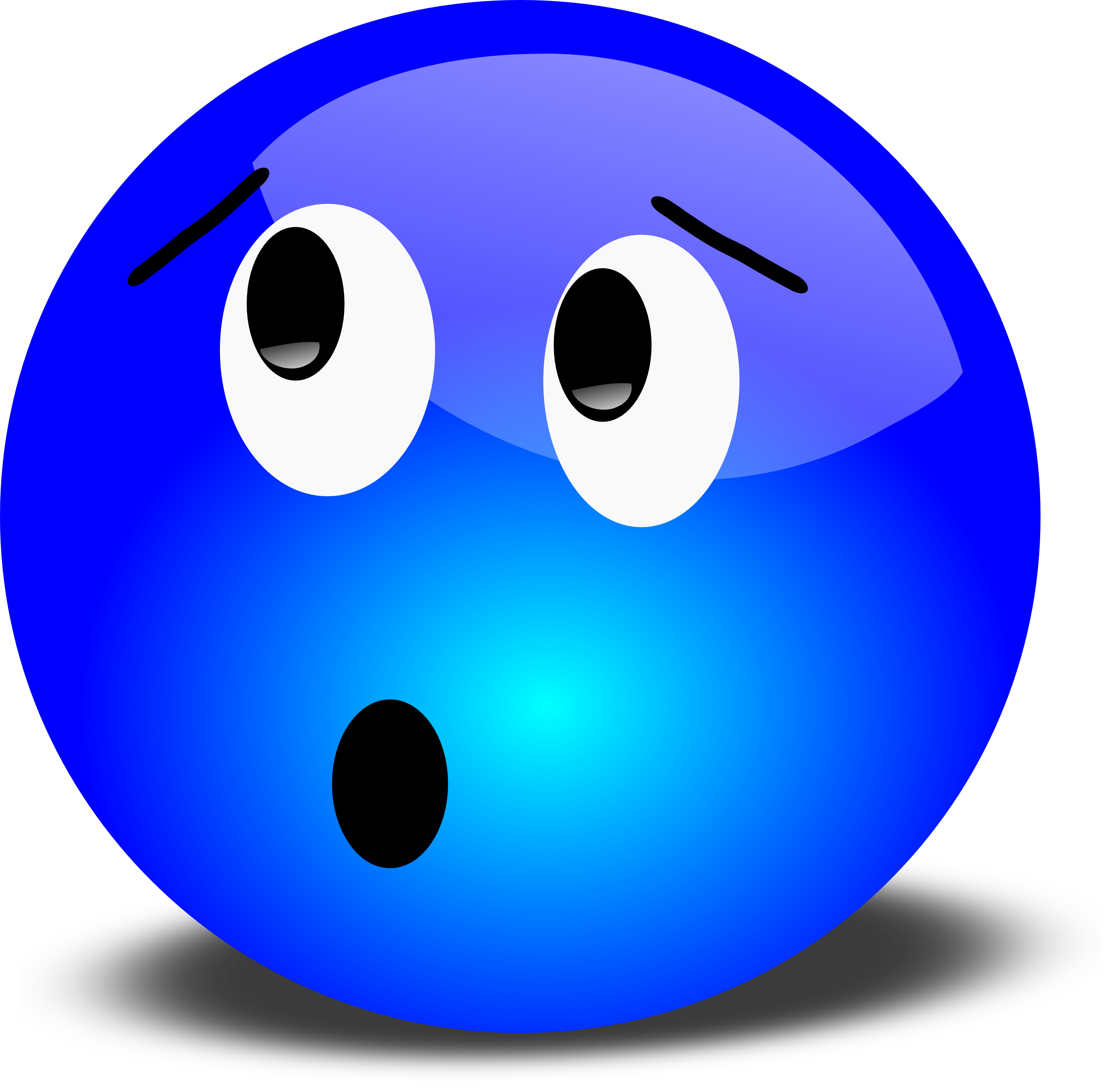 3200x3134 Free 3d Worried Smiley Face Clipart Illustration