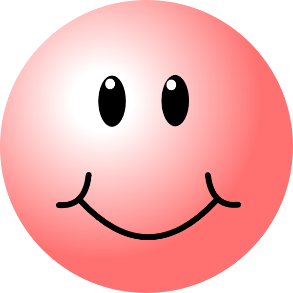 600x600 Happy Faces Pink Smiley Face Clip Art
