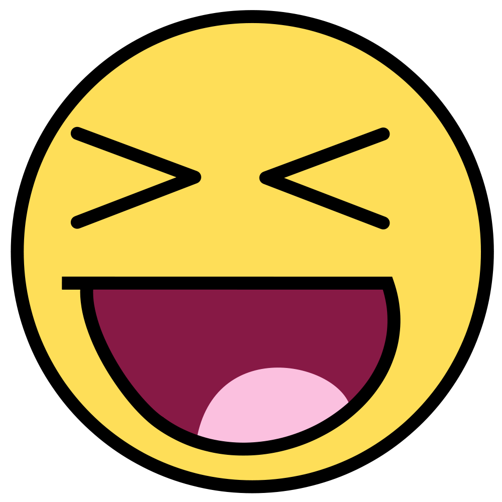 1000x1000 Collection Of Laughing Smiley Clipart High Quality, Free