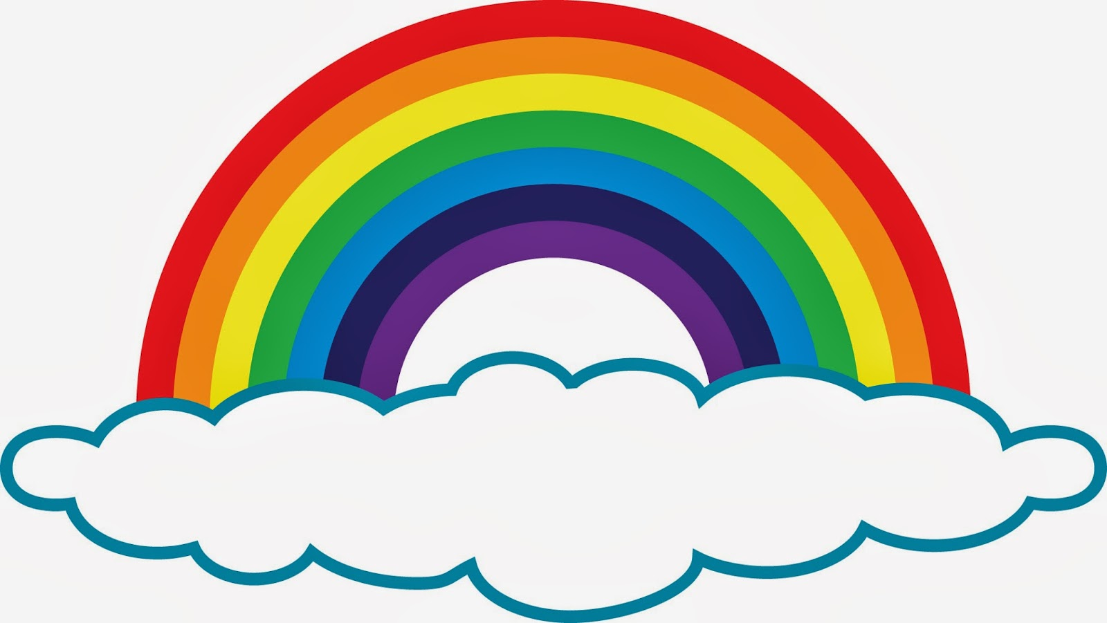 1600x901 Rainbow Black And White Rainbow Clip Art