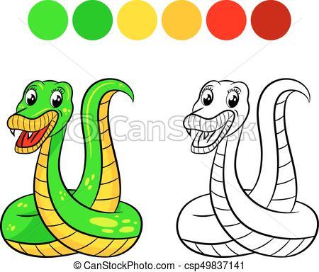 450x384 Snake Coloring Book. Snake. Coloring Book Design For Kids Eps