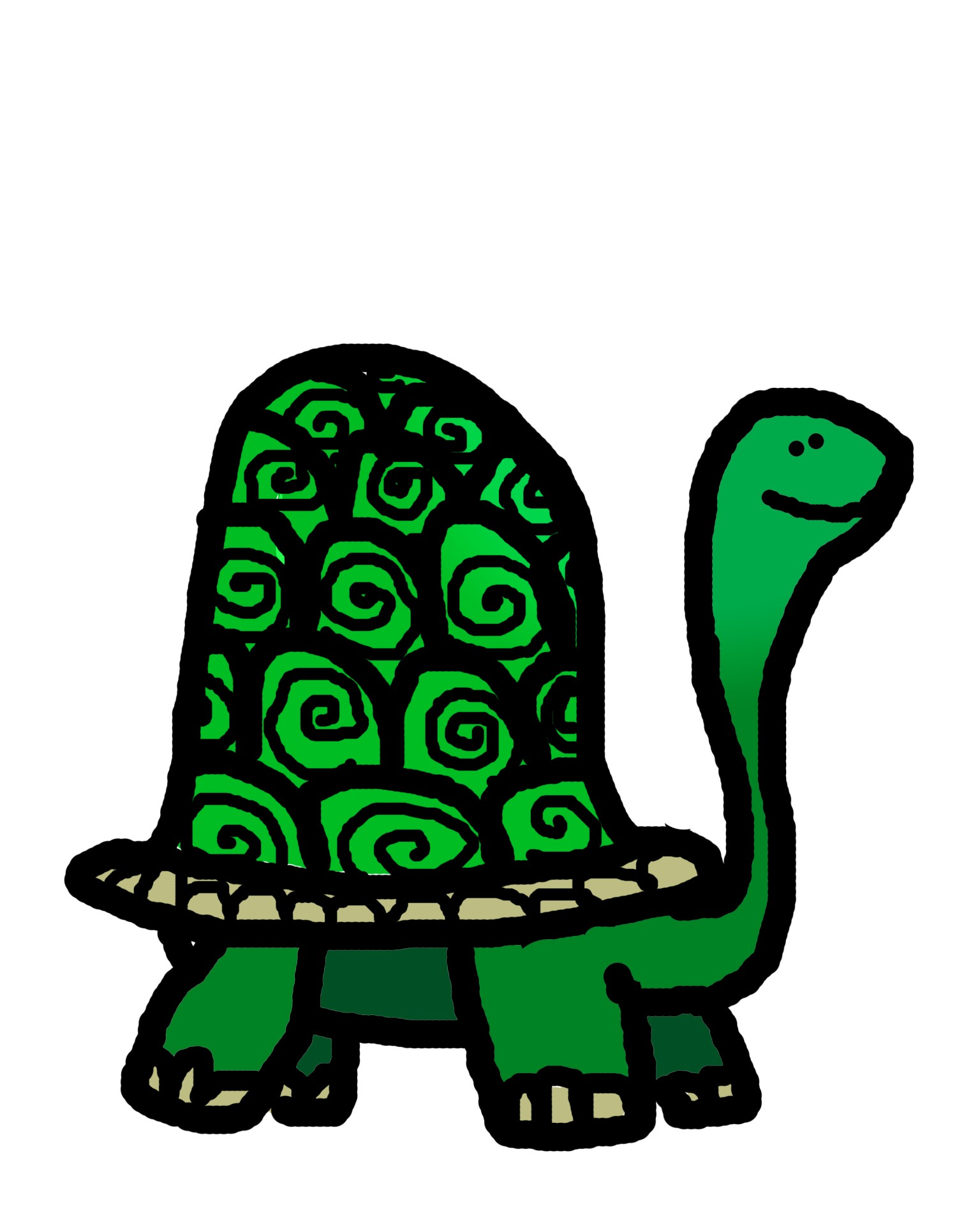 1536x1920 Turtle Outline