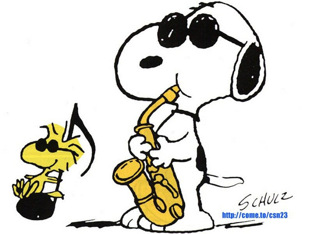 1024x768 Jamming With Snoopy! Charlie Brown Amp Snoopy Snoopy