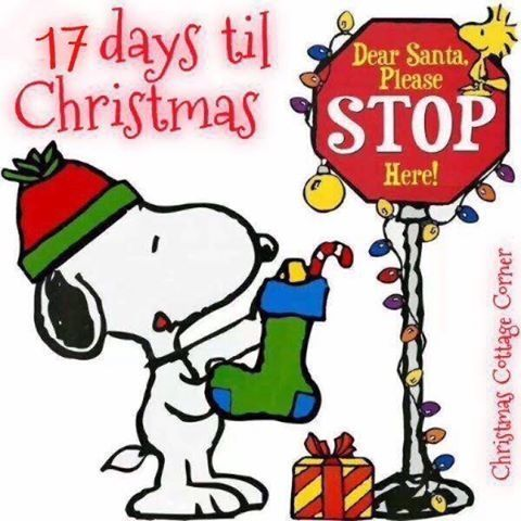 480x480 Snoopy Christmas Clip Art 17 Days Until Christmas Beautiful Things