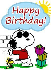 200x283 Collection Of Happy Birthday Snoopy Clipart High Quality