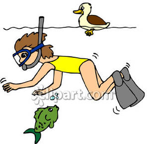 Snorkeling Clipart