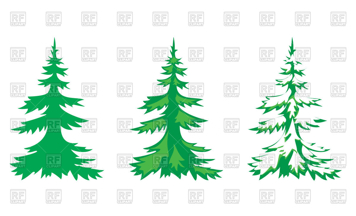 1200x730 Fir Trees Covered With Snow Royalty Free Vector Clip Art Image
