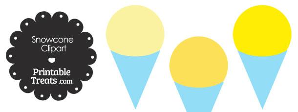 610x229 Yellow Snow Cone Clipart Printable