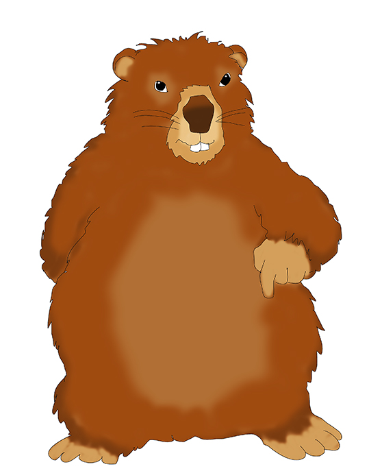 539x687 Groundhog Day Clipart 3