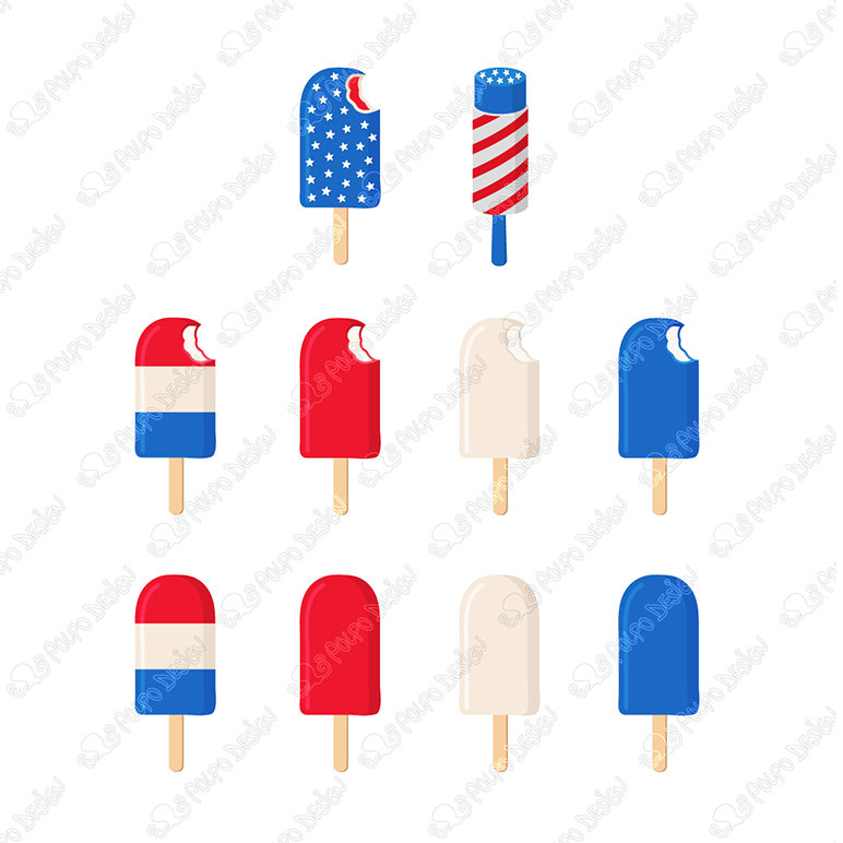772x772 Patriotic Ice Cream, 4th Of July Clipart, 4th Of July Clip Art