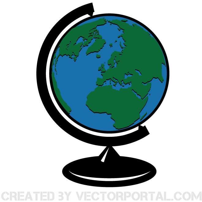 660x660 Globe Vector Clip Art