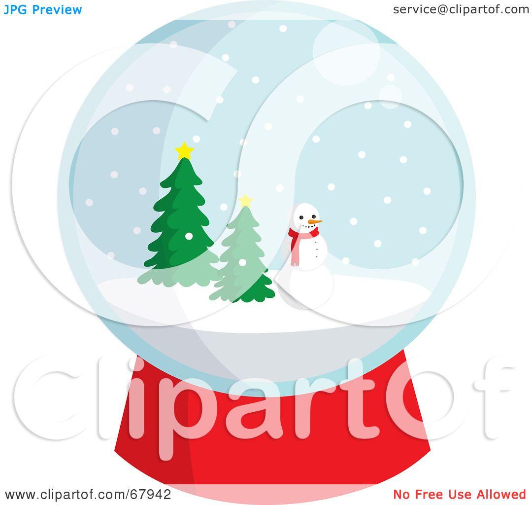 1080x1024 Royalty Free (Rf) Clipart Illustration Of Snowglobe