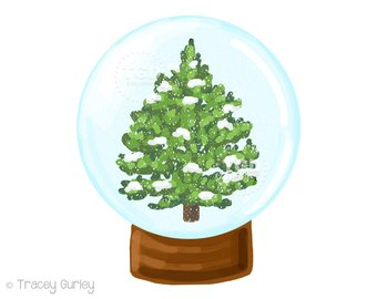 340x270 Snow Globe Christmas Clip Art Set Snow Globe Digital Art