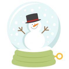 236x236 Snow Globe Clipart, Christmas Snowglobe Clip Art, Holiday Snowman