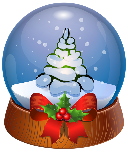 505x600 Christmas Tree Snow Globe Transparent Png Clip Art Image
