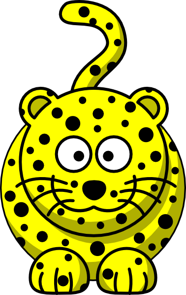 378x598 Yellow Leopard Clip Art